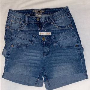 2 JEAN SHORTS for the price of 1.